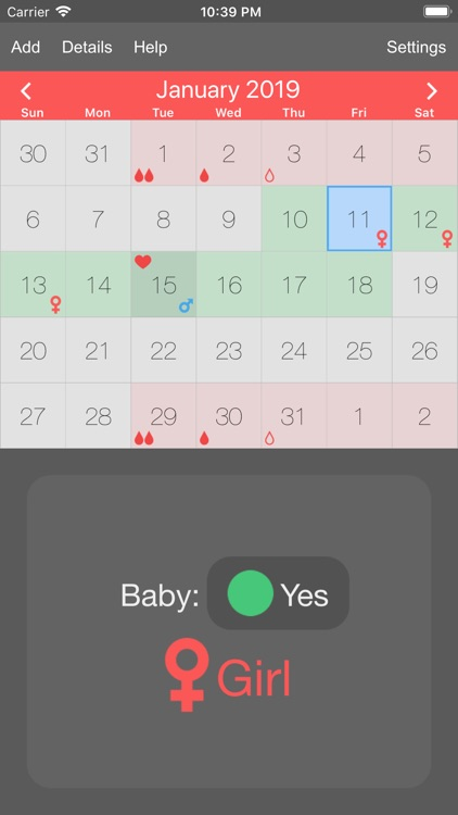 Menstrual Periods Tracker