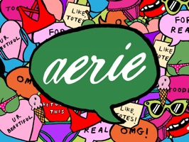 Download our stickers & add some #AerieREAL fun to your iMessages