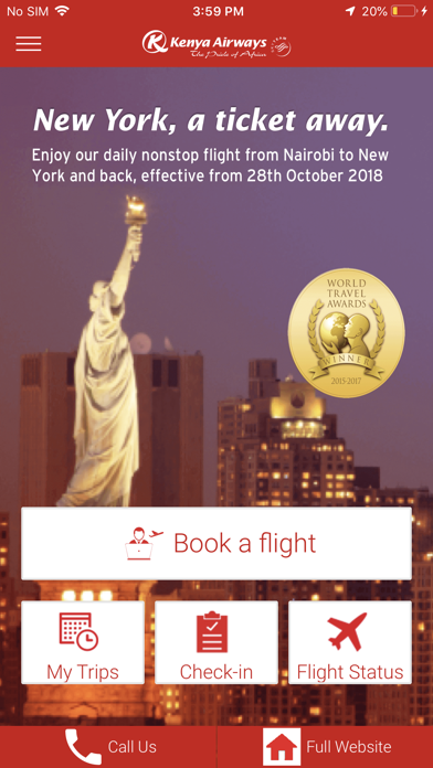 Kenya Airways screenshot one
