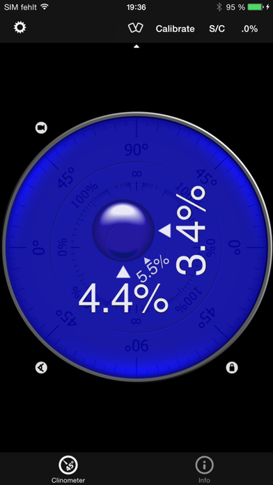 Clinometer + bubble level screenshot two