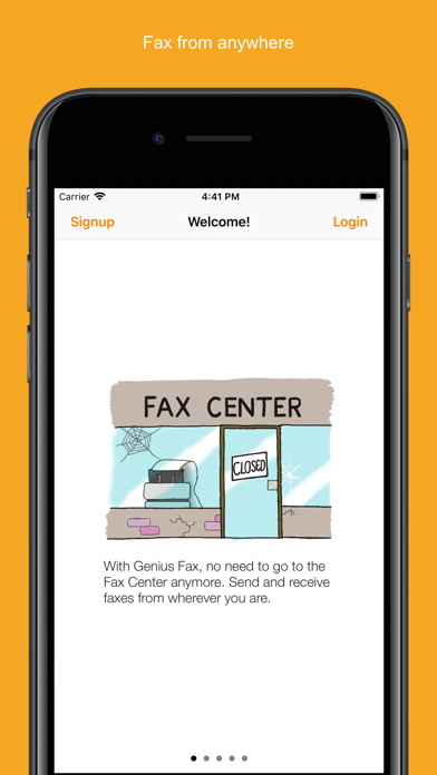 Genius Fax - Fax PDF documents Screenshot