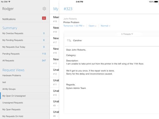 Screenshot #5 pour IT helpdesk | ServiceDesk Plus