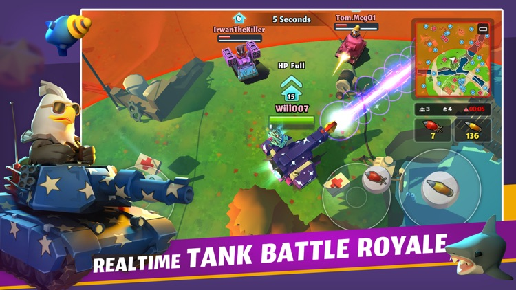 PvPets: Tank Battle Royale screenshot-0