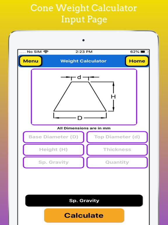 Fabrication Weight Calculator screenshot 12