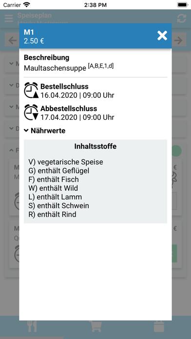 Nürnberger MenüScreenshot von 3