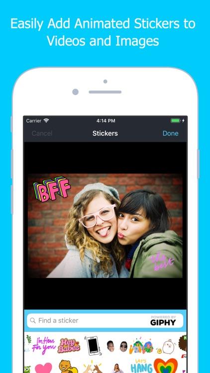 Add GIFs to Videos & Photos
