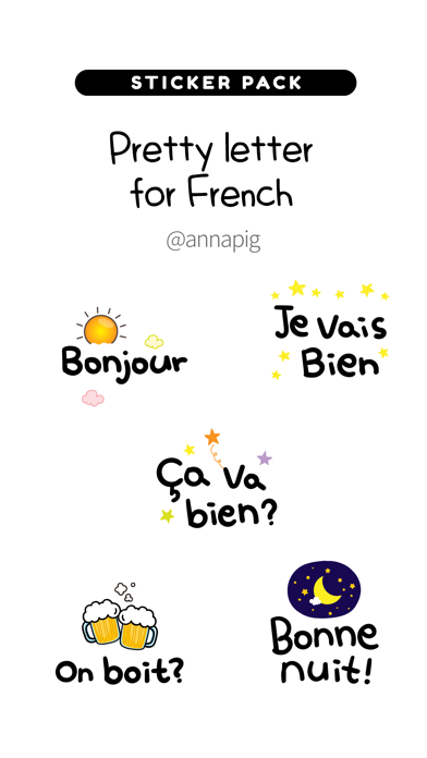 Pretty letter for French screenshot 1