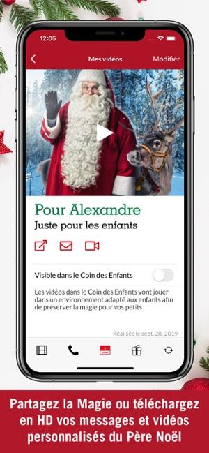 Lettre Au Pere Noel Video Personnalise.Pnp Pere Noel Portable Dans L App Store