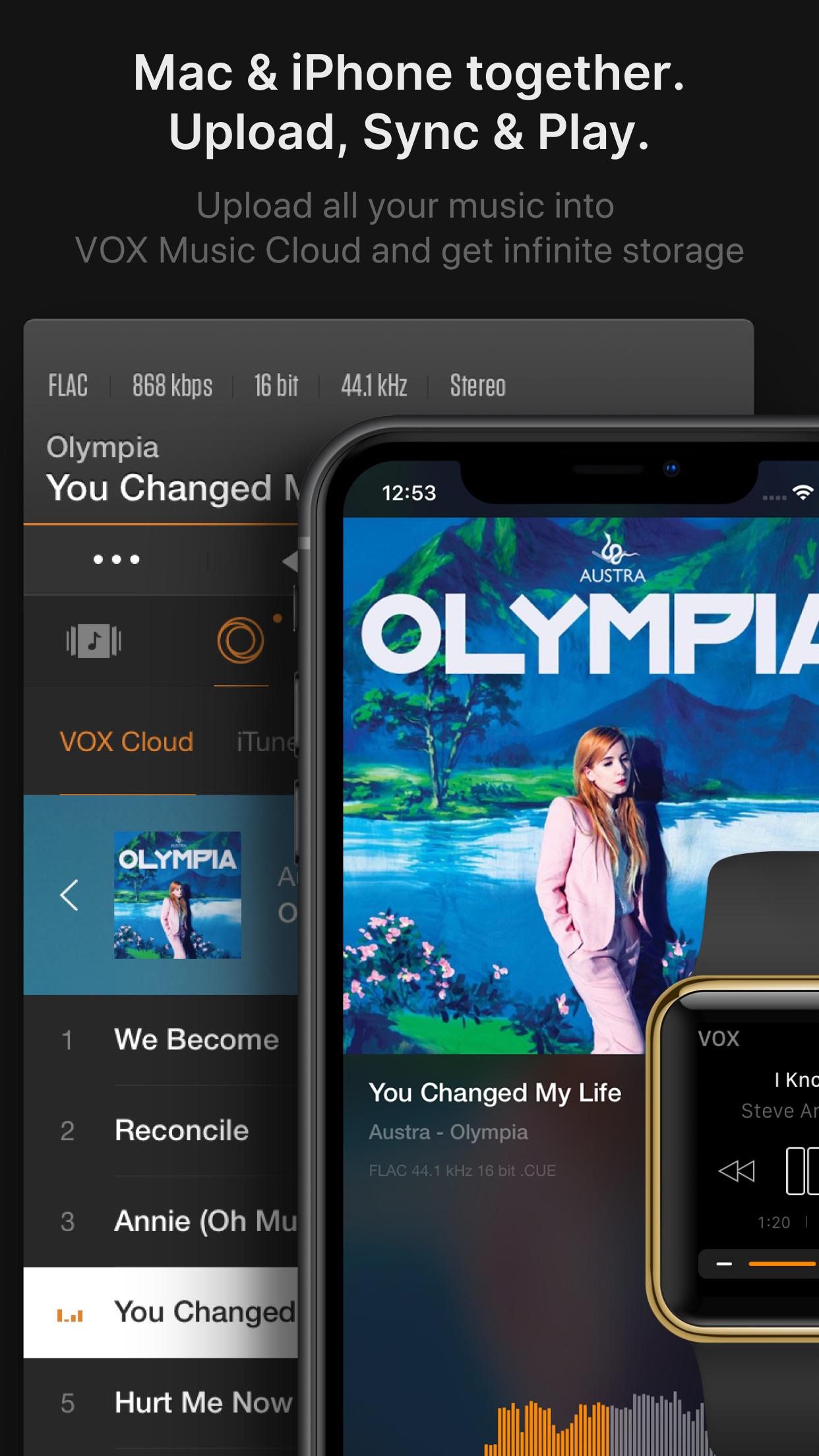 Screenshot do app VOX – MP3 & FLAC Music Player