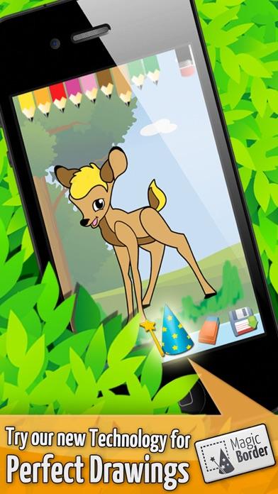 森 - ぬりえ動物 - 子供のためのゲームのおすすめ画像5