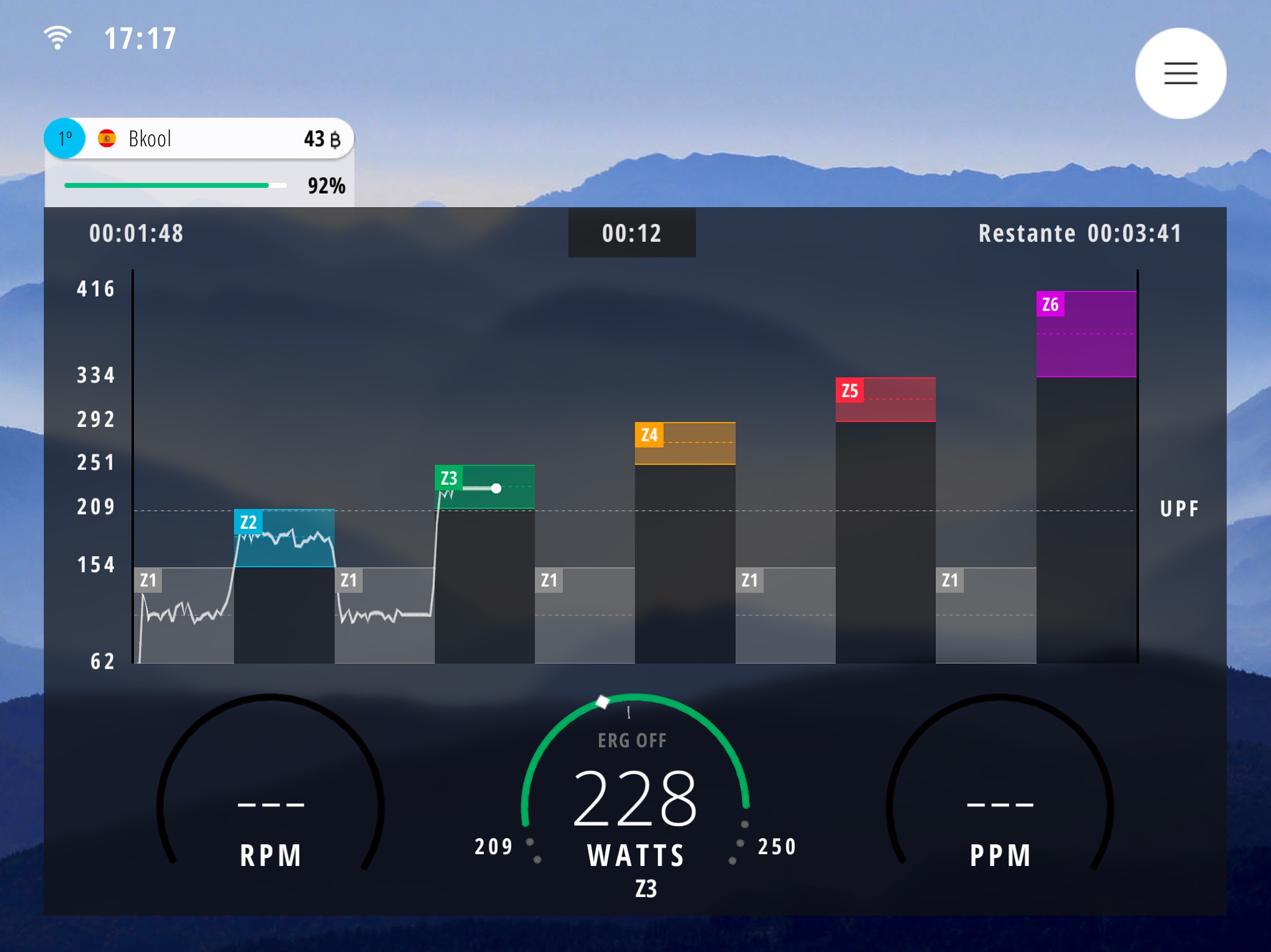 Bkool Simulator Screenshot