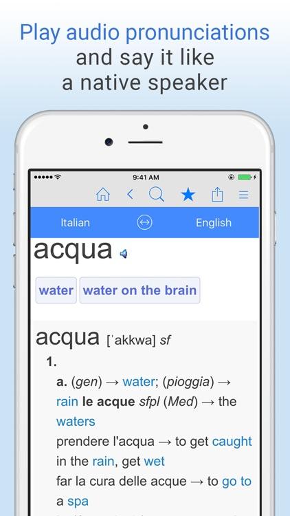 English+Italian Dictionary screenshot-4