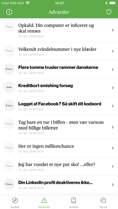 Screenshot for Mit digitale selvforsvar in Denmark App Store