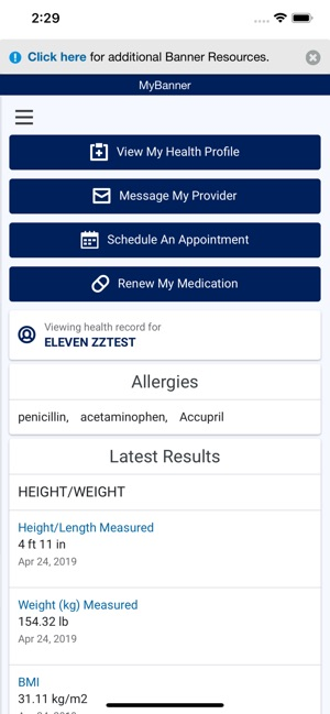 MyBanner Patient Portal on the App Store
