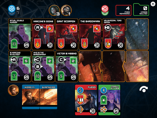 Dresden Files Co-op Card Game Screenshots
