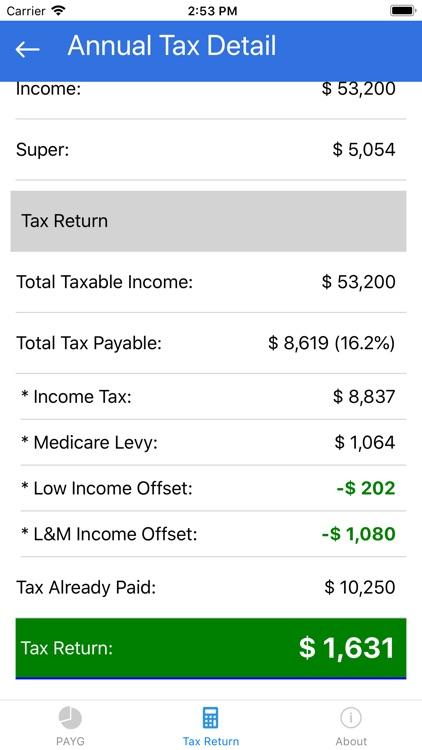 Tax Calculator 2019 ATO Rate screenshot-3