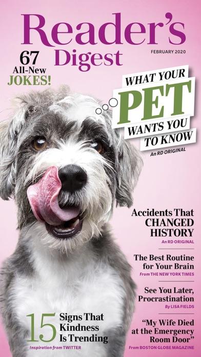 Readers Digest review screenshots