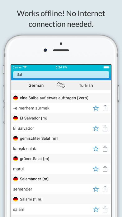 German Turkish Dictionary + screenshot 1