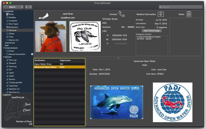 Dive Log Manager Screenshot