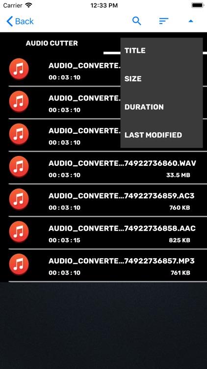 Audio Cutter Audio Converter screenshot-3
