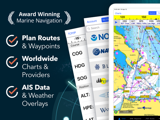 iNavX: Marine Navigation Screenshots
