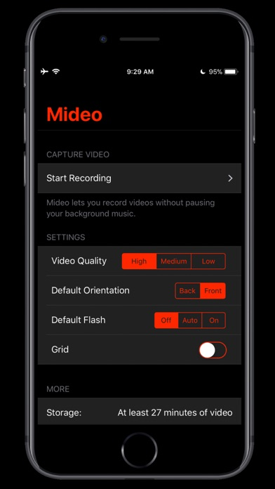 Mideo: Record with Music Screenshots