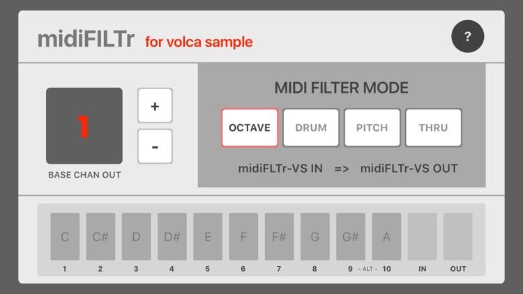 midiFILTr-VS for Volca Sample screenshot-3
