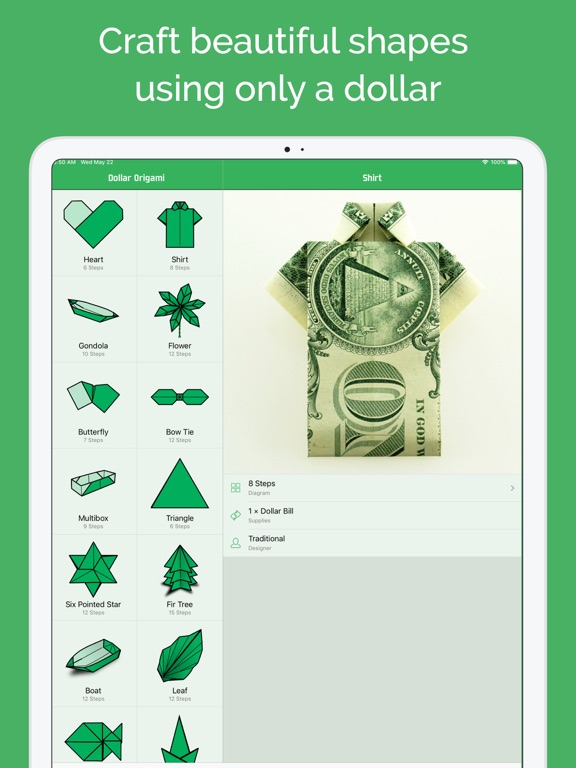 Dollar Bill Origami Screenshots