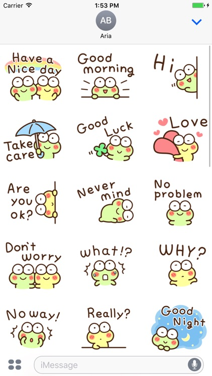Chat With Cute Frog Sticker