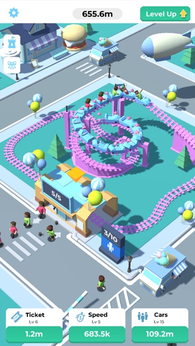 Idle Roller Coaster screenshot 4