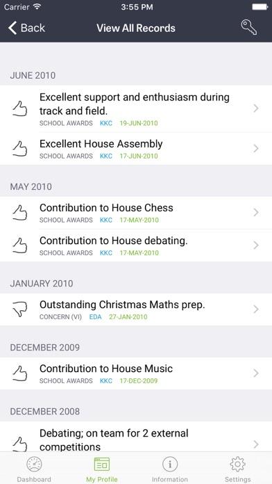 iStudent App screenshot four
