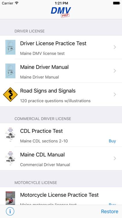 Maine DMV Test Prep