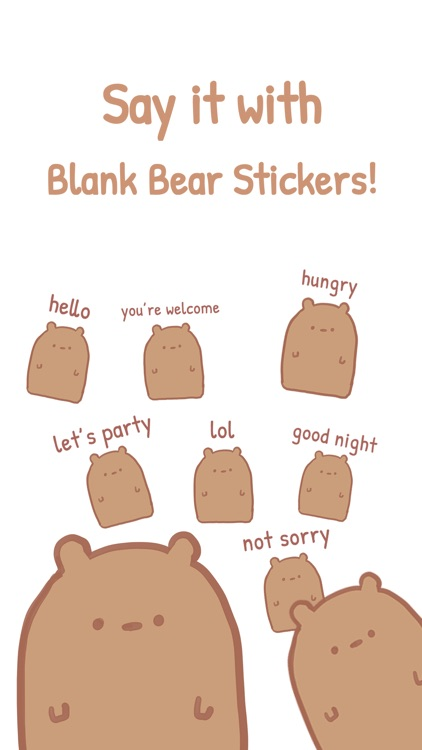 Blank Bear Stickers