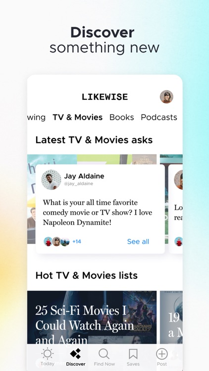 Likewise: Get Recommendations screenshot-2