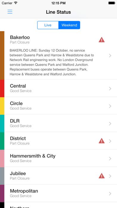 London Tube Live - Underground Screenshot