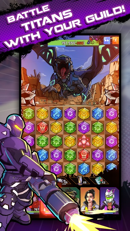 Puzzle Force: Match 3 RPG screenshot-4