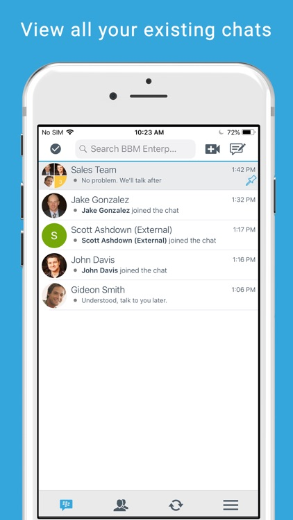 BBM Enterprise screenshot-1