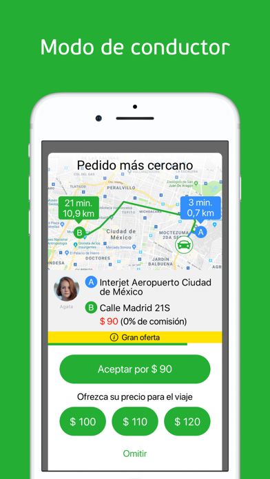 Screenshot for inDriver: alternativa de taxi in Ecuador App Store
