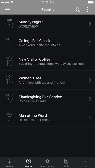 Faith Bible Church App screenshot two