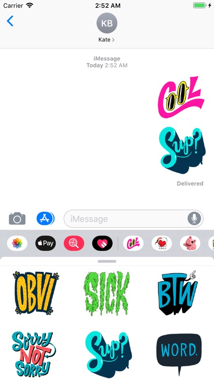 Cool Text Trending Sticker Emo