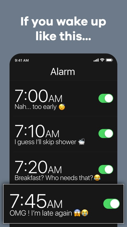 Kiwake: smart alarm clock screenshot-0