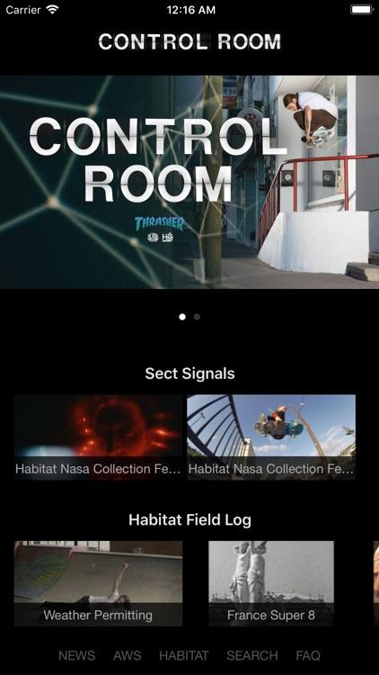 Control Room Habitat & AWS