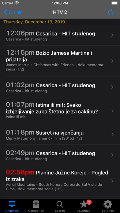Croatian TV+ Screenshots