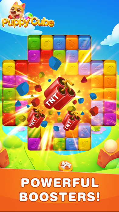 Puppy Cube Blast: Tap, Pop&Win Screenshot on iOS