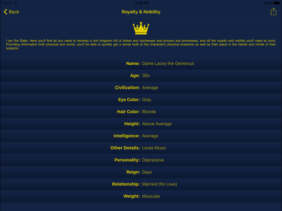 Characterize - Character Creator & Random Name Generator for Fantasy Names, Pirates, Aliens & More screenshot