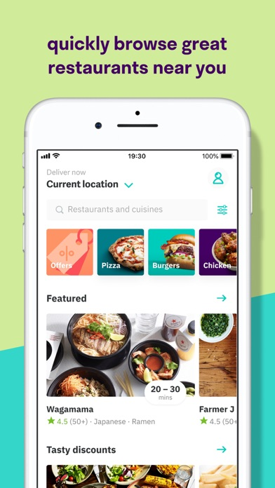 Screenshot for Deliveroo: Food delivery in United Kingdom App Store