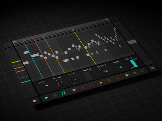 Screenshot #4 pour Fugue Machine : MIDI Sequencer