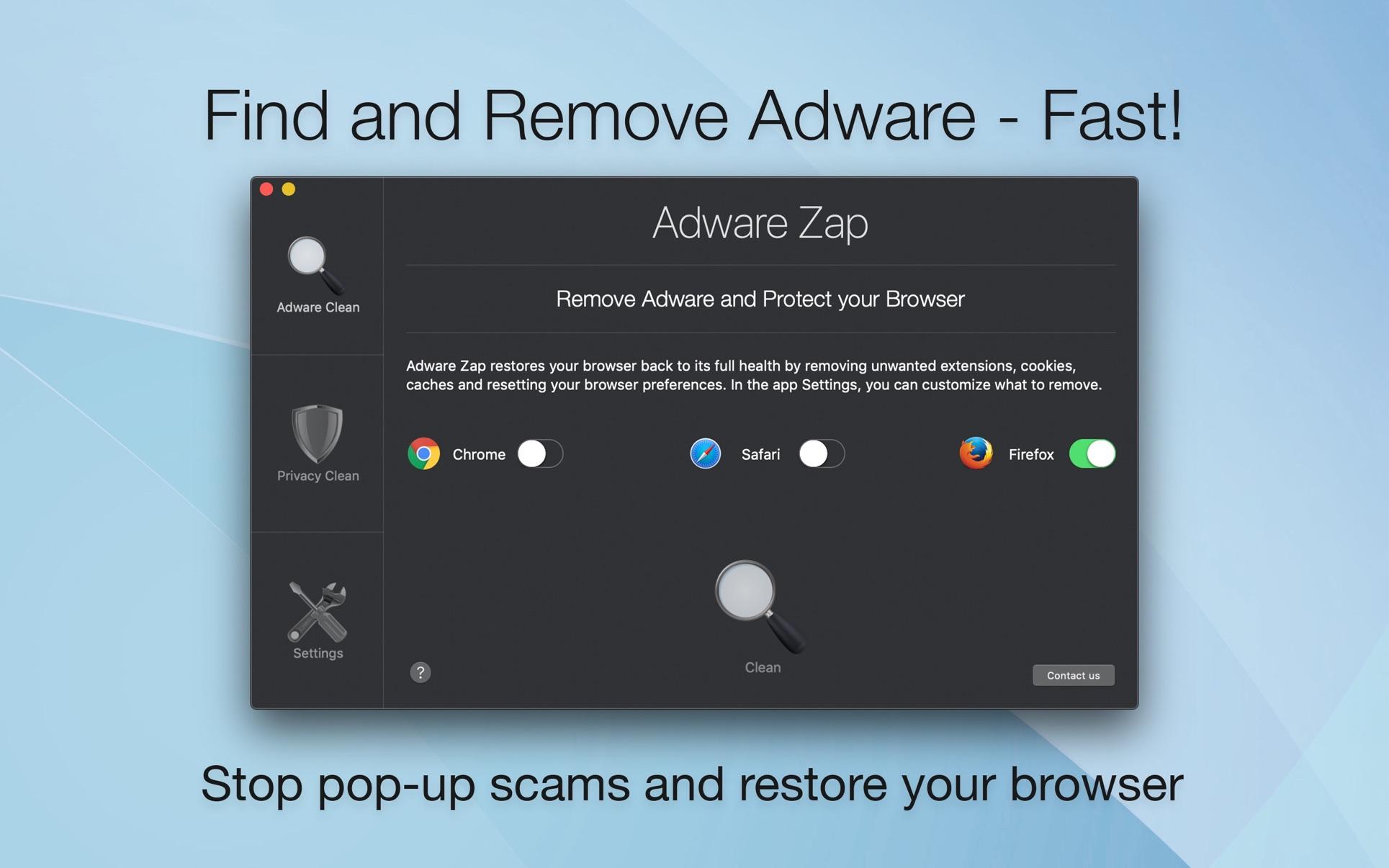 Adware Zap Pro Mac 破解版 广告软件清理工具-麦氪搜 下载