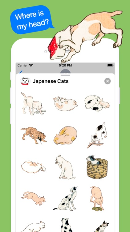 Japanese Cat Stickers screenshot-3