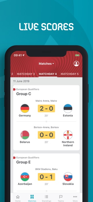 Uefa Calendrier 2020.Uefa Euro 2020 Official On The App Store